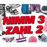 Nimm 3 zahl 2 Aktion beim Sport Outlet am 31.5. und 1.6.2013