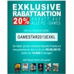 20% Rabatt auf alle PC-Games-Downloads bei Gamesload