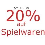 Müller: -20% auf Spielwaren am 1.6.2013