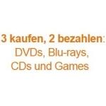 DVDs, Blu-rays, CDs, Games u.v.m – 3 kaufen, nur 2 bezahlen bei über 6000 Artikel von Amazon.de