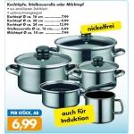 Zielpunkt: Kochtopfset 8-teilig für 45,95 Euro (offline)