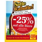 -25 % bei Billa auf Bier am 7. u. 8. Juni (nur für Billa-Vorteilsclubmitglieder)
