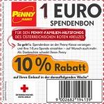 Penny hilft Flutopfern – 1 Euro spenden und 10 Prozent Rabatt auf den nächsten Einkauf bekommen