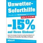 Aktion für alle Hochwasser Betroffene: -15% Rabatt bei Möbelix