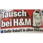 H&M: 15% Rabattgutschein für jedes Einkaufssackerl mit gebrauchten Textilien