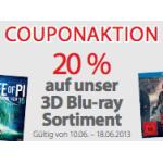 20% Rabatt auf 3D Blu-rays bei Müller bis 18.6.2013