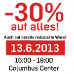 Wien, Columbus Center. Donnserstag zwischen 16 und 19 Uhr -30% Rabatt