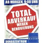 Wien: Kleiderbauer Donauzentrum: Donnerstag ab 9:00 Totalabverkauf wegen Umbau