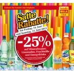 -25 % auf Mineral, Limo, Fruchtsäfte und Energydrinks bei BILLA am 14. u. 15. Juni