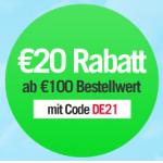 Neue Gutscheine (z.B.: 20 Euro Rabatt) + kostenloser Versand + 20% extra Rabatt auf Sommermode