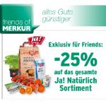 -25% auf Ja!Natürlich Produkte bei Merkur für Friends of Merkur