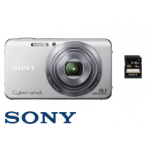SONY DSC-W630 Kompaktkamera in silber + 4GB SDHC-Karte um 59€ bei Saturn