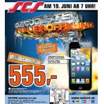 iPhone 5 16GB um 555 Euro bei der Saturn SCS Neueröffnung am 19.6.2013