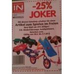 """-25 % auf einen """"Artikel zum Spielen im Freien"""" bei Interspar"""