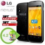 Google Nexus 4 16GB zum neuen Bestpreis von 305,90€ bei iBOOD
