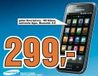 Samsung Galaxy S i9000 (ohne Simlock & ohne Vertrag) um 299€ @Saturn