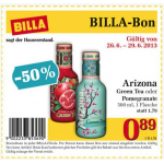 neuer Billabon: Arizona Green Tea oder Pomegranate 500ml um 0,89 Euro statt 1,79 Euro
