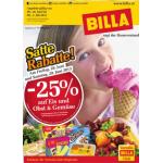 Neue Sortimentsaktionen (z.B.: -25% auf Eis, Obst und Gemüse bei Billa)