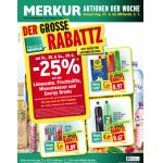 -25% auf Limo, Fruchtsäfte, Mineral und Energy Drinks (zB.: Red Bull um 0,89 €, …) für Friends of Merkur am 28. und 29.6.