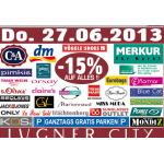 Lugner City: -15% Rabatt auf alles in vielen Geschäfte (z. B Merkur, DM, …)