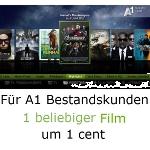 A1 TV Bestandskunden: 1 beliebiger Film um 1 cent