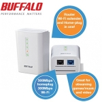 Buffalo 500Mbps HomePlug + 300Mbps Wireless Router Starter Kit um 58,90€ bei iBOOD