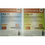 2 für 1 bei Madame Tussauds in Wien, Leogoland und Gardaland (durch Müller Gutschein)
