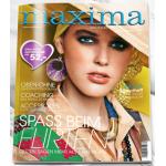 Maxima Jahresabo (10 Ausgaben) + 15 Euro REWE Group EInkaufsgutschein um 15 Euro