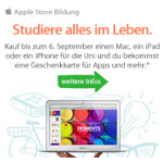 kostenlose App Store Karte im Wert von 80 Euro beim Kauf von einem Mac / 40 Euro bei iPad / iPhone