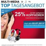 Müller Multi-Media Top Tagesangebot: -25% Rabatt auf alle verfügbare Kopfhörer