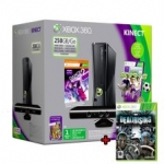Xbox 360 S Elite 250 GB KINECT Bundle 4 GAMES inkl. Versand um 199 Euro