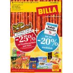 Neue Sortimentsaktionen (z.B.: -25% auf Knabbergebäck und Käse bei Billa)