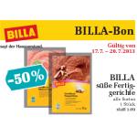 neuer Billabon: Billa süsse Fertiggerichte 1+1 gratis