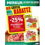 Neue Sortimentsaktionen (z.B.: -25% auf das gesamte Frischfleisch bei Merkur & Spar)