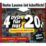 Mediamarkt: 4 für 20 Euro DVD Aktion