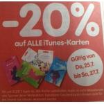 -20 % auf alle iTunes – Karten von 25. – 27.07 bei Interspar