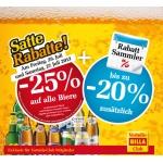 -25 % bei Billa auf Bier am 26. u. 27. Juli (nur für Billa-Vorteilsclubmitglieder)