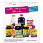 10% sparen im Gesundheitsshop (Vitamie etc.) sowie im Beautyshop (Naturkosmetik)