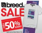 -50% auf alle Artikel der Marke breed @MandMDirect