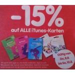 -15 % auf alle iTunes/AppStore – Karten von 08. – 10.08. bei Interspar