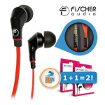 2x Fischer Audio Red Stripe In-Ear Kopfhörer um 19,95 Euro + 5,95 Euro Versand bei iBOOD.at