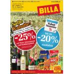 Neue Sortimentsaktionen (z.B.: -25% auf Wein, Schaumwein und Knabbergebäck bei Billa)