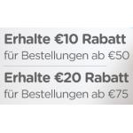 Crocs.at: kostenloser Versand + 20 Euro Rabatt ab 75 Bestellwert / 10 Euro Rabatt ab 50 Bestellwert