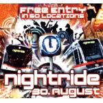 Nighride 2013 – kostenlos in 50 Clubs und kostenlos Öffis fahren am 30.08.2013