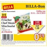 neuer Billabon: Frischer Chefmenü Mischsalat 1+1 gratis