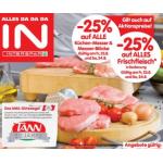 Neue Sortimentsaktionen (z.B.: -25 % auf das gesamte Frischfleisch Sortiment in Bedienung bei Spar / Interspar / Eurospar)