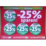 -25 % Aufkleber bei der Spar-Gruppe vom 2. – 7.12.2013