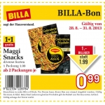 neuer Billabon: Maggi Snacks, diverse Sorten, 1+1 gratis