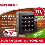Interspar-Onlineshop: Weinkühler statt 179,- nur 111,- Euro (+ 20 € Gutschein)