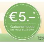5 EUR Deichmann Online Gutschein